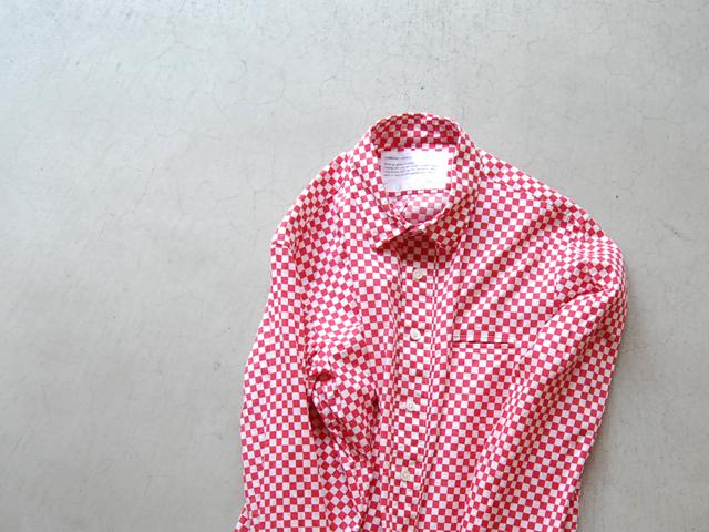 COMMONO reproducts(コモノ リプロダクツ)/CHECK REGULAR SHIRTS(RED)