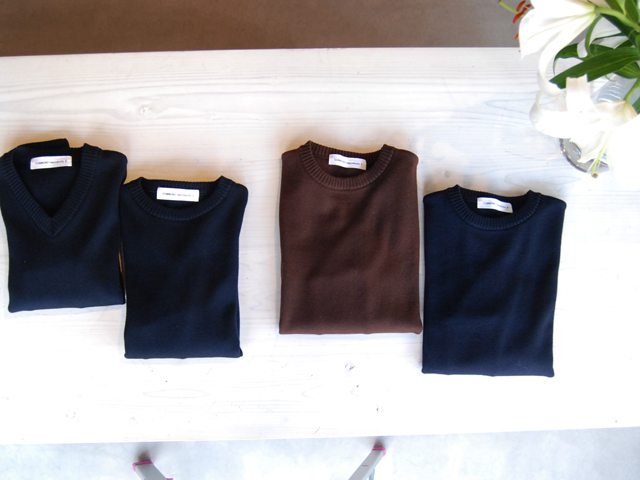 COMMONO reproducts(コモノ リプロダクツ)/Crew Neck & V Neck Knit