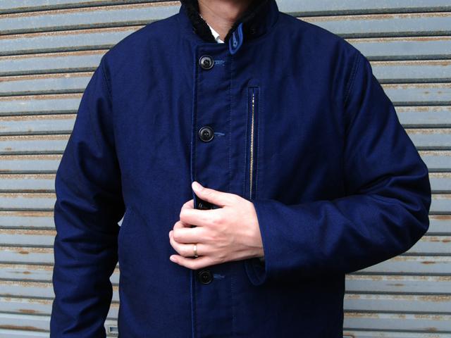 BLUE BLUE(ブルーブルー)/インディゴジャーマンクロス デッキジャケット