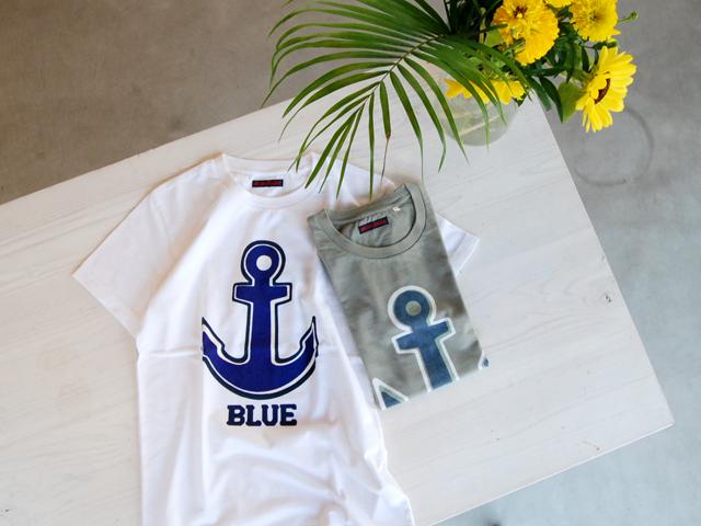 BLUE BLUE(ブルーブルー)/ファティーアンカーTシャツ