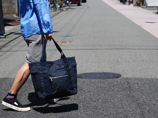 BLUE BLUE・PORTER デニム2WAYトートバッグ