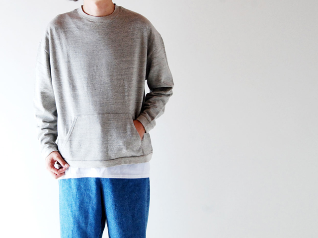 COMMONO reproducts/CREW WIDE SWEAT