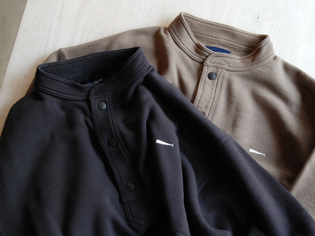 DESCENDANT/VOIL / HENLEY NECK SWEATSHIRT