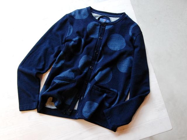 BLUE BLUE JAPAN/インディゴウラケ バッセンパターンカーディガン ウイメンズ