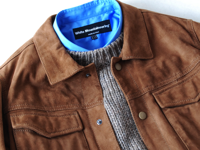 White Mountaineering/GOAT SUEDE JACKET