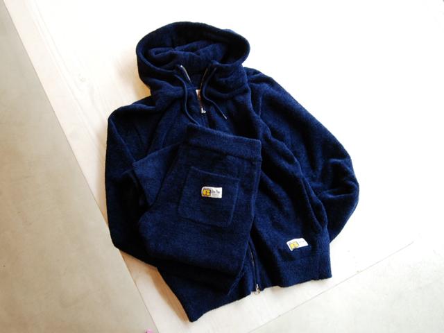 BLUE BLUE/RUSSELL・BLUE BLUE パイルジップパーカ  ジョガーパンツ