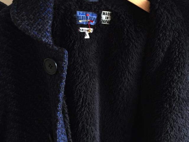 BLUE BLUE JAPAN(ブルー ブルー ジャパン)/ユキンコドット ラウンドカラーウラボアハーフコート ウイメンズ