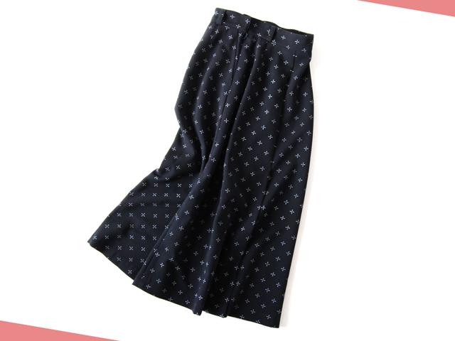 BLUE BLUE JAPAN/プランプウール カスレボシ ハイウエスト ロングスカート