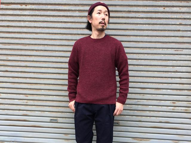 BLUE BLUE JAPAN/モクメモヘア クルーネックセーター