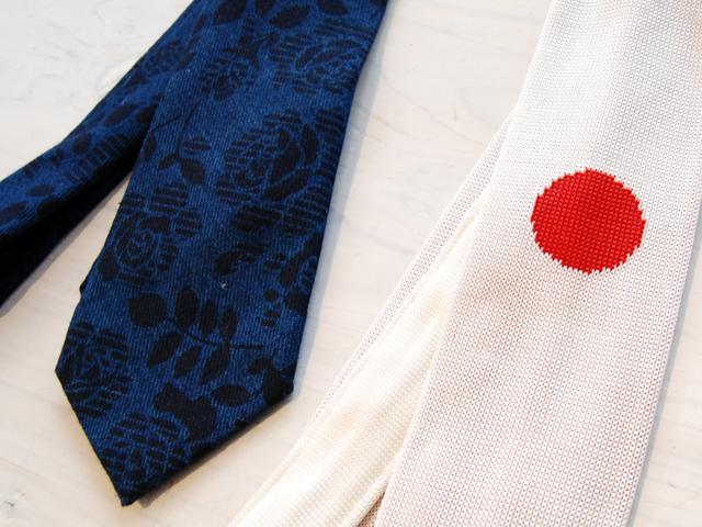 BLUE BLUE JAPAN/ヒノマル シルク ニットタイ