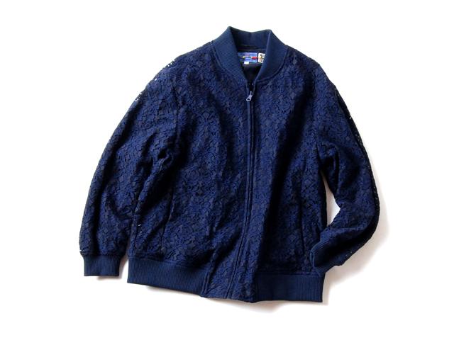 BLUE BLUE JAPAN/レースジップアップジャケット ウイメンズ