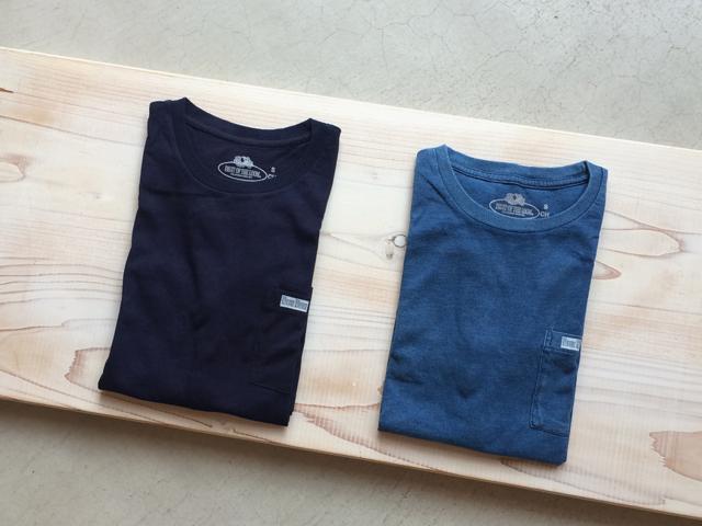 FRUIT OF THE LOOM x BLUEBLUE/インディゴクルーネックTシャツ